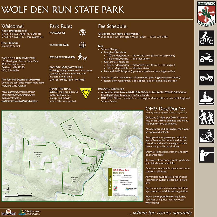 wolf den run state park